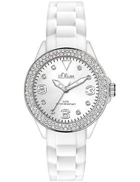 s.Oliver Damen-Armbanduhr XS Analog Silikon SO-2448-PQ