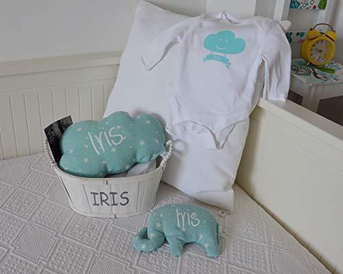 Canastilla bebé personalizada. Regalo original para un recién nacido