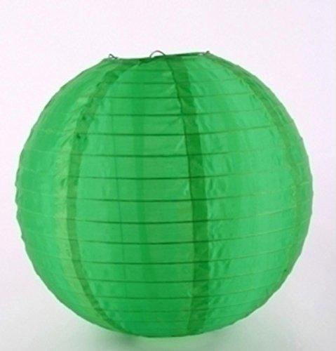 Grüne Lampion Kugeln aus Nylonmaterial. Durchmesser 30cm. 1 Stück