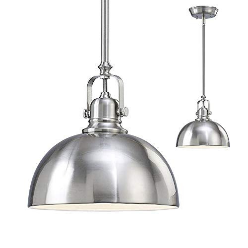 CHTG Küche und Bar 1 Light Mini An;nger mit gebürstetem Nickel Metall Shade -