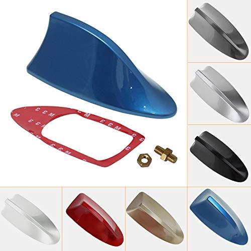 Antena decorativa para radio de coche universal de Feeldo, para techo, tipo aleta de tiburón. Con función radio FM/AM (gris)