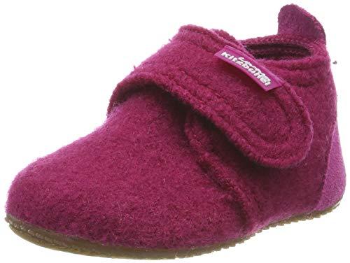 Living Kitzbühel Unisex Baby Babyklett. Mit Velourkappe Hausschuhe, Pink (Magenta 362), 24 EU