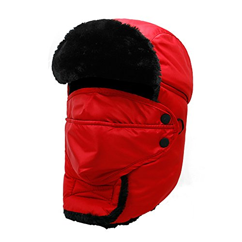 55737d873ee Colleer Winter Unisex Bomber Hats Trooper Trapper Hunting Hats Ushanka  Russian Ear Flaps Chin Strap with ...