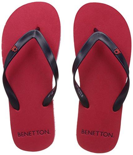 United Colors of Benetton Men's Red and Navy EVA Flip-Flops...