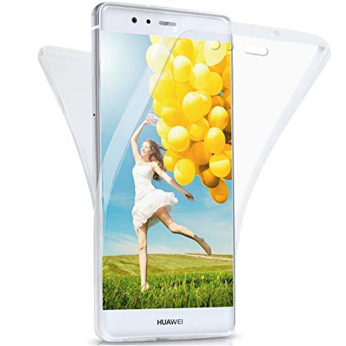 moex Huawei P9 | Hülle Silikon Transparent 360 Grad Double Side Cover Dünne Schutzhülle Slim Handyhülle für Huawei P9 Case Transparent Silikonhülle TPU