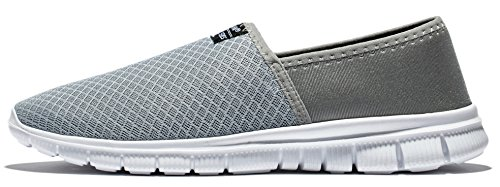 Lite Racer Le glissement de Anlarach Men Sur Souliers simple marche Flexible New Light Weight Go Facile Chaussures Gris Clair