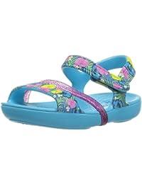 Crocs Lina Girls Sandal In Blue