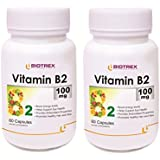 [Sponsored]Biotrex Vitamin B2 - 100mg (60 Capsules), Pack Of 2 - Promotes Healthy Hair And Skin