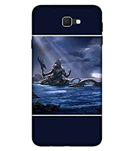 For Samsung Galaxy J5 (2017) dangerous man, man with sword, river, mountain Designer Printed High Quality Smooth Matte Protective Mobile Pouch Back Case Cover by BUZZWORLD