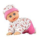 Murieo Puppe Spielzeug, Baby Kinder elektrische Babypuppen Funktionspuppe kriechende Spielwaren,Baby Krabbeln Spielzeug Musik Kinder Lernen Bildung Spielzeug (Rosa Blumen)
