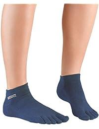 Knitido Track & Trail Ultralite Fresh Seasons   kurze Zehensocken für Sport und Freizeit, geeignet für Zehenschuhe, einfarbig in 7 Farben, für Damen und Herren (unisex), aus Baumwolle (39%) und kühlender Coolmax®-Faser, Größe:43-46;Farbe:Petrol