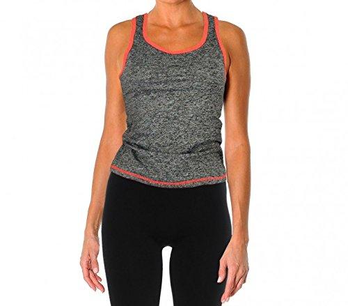 MWS2868 – Ensemble short et t-shirt sans manches de sport pour les femmes - mod. FLEXY CORAIL