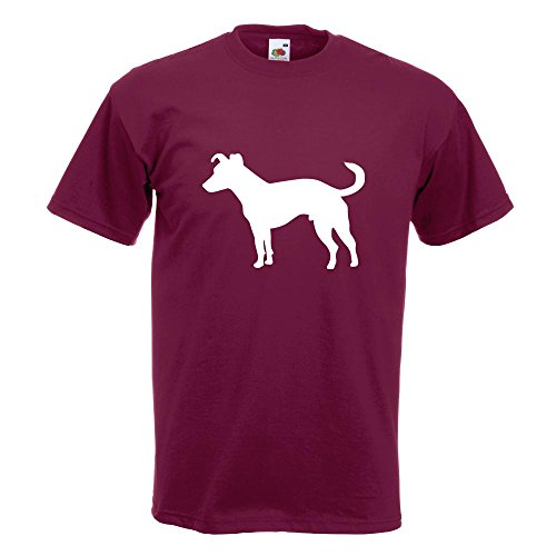 KIWISTAR - Jack Russell Hund Terrier T-Shirt in 15 verschiedenen Farben - Herren Funshirt bedruckt Design Sprüche Spruch Motive Oberteil Baumwolle Print Größe S M L XL XXL Burgund