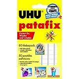 UHU Lot de 2 Etuis de 80 Pastilles adhésives repositionnable décollable Patafix Blanc