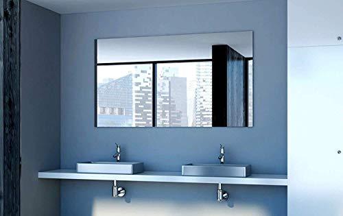 Unbekannt Rahmenloser Kristallspiegel mit klar Polierte Kanten/Rechteckig/Individuell nach Maß 6mm Stärke/Dicke - Inkl. Kostenlose Aufhängebleche Badezimmerspiegel/Wandspiegel