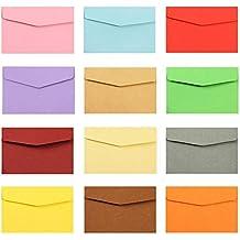 MINGZE Mini sobres de 50 piezas, sobres de 17 * 12.5 cm, sobres pequeños