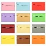 MINGZE 50 Stück Mini Umschläge, 17 * 12.5cm Umschläge, Kleine farbige Umschläge für Geschenkkarten Hochzeit, Geburtstag Partyangebot.