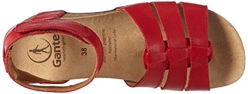 Ganter Giulia, Weite G, Scarpe Col Tacco con Cinturino a T Donna Rosso (rouge (red 4000))
