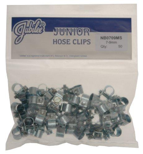 Jubilee NB0709 Junior Schlauchschellen, 7-9mm, 50Stück (8 7 Rohr Id)