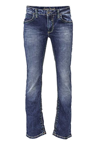 Camp David Herren Jeans Boot Cut NI:COR611 Low Waist, Farbe: Blau, Größe: 31/34
