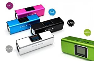 IMISS mini enceinte portable Music Angel-mini Enceinte avec Ecran LCD USB TF FM radio Réveil-Alarme-LRC