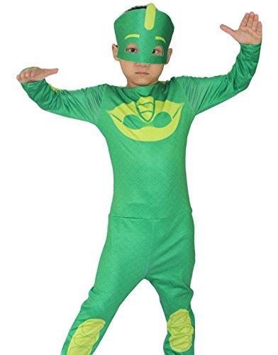 Jahre - Kostüm Verkleidung Karneval und Halloween von Gecko Grün Super Helden Pj Masken Gecko männliches Kind (Ideen Für Halloween Masken)