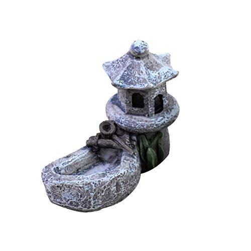 (Berrose-Moos Micro Landschaft zubehör Schwimmbad Turm DIY Material Mini Handwerk landschaftsbau Decor Garten Dekoration-Moos Dekoration Wasser Tower Figuren -DIY schöne Ornamente)