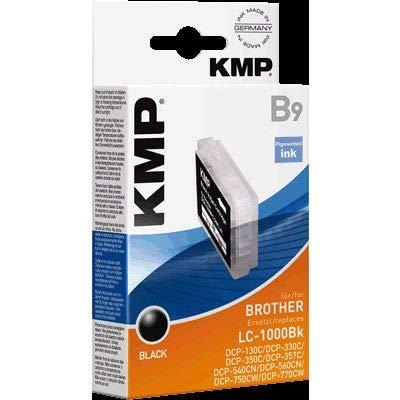 KMP Tintenpatrone für Brother LC1000Bk LC51Bk 2 Tintenpat. f.