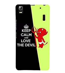 Takkloo keep calm and love devil cute devil, cute kidkeep calm) Printed Designer Back Case Cover for Lenovo K3 Note :: Lenovo A7000 Turbo