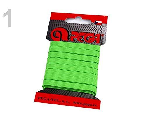 1kart 1 (1805) Grün Elektrisch Neon Wäscheband/Gummiband Breite 7mm Verschiedene Farben, Gummilitzen Wäschegummis Karten - Kleine Packungen, Gummibänder, Kurzwaren
