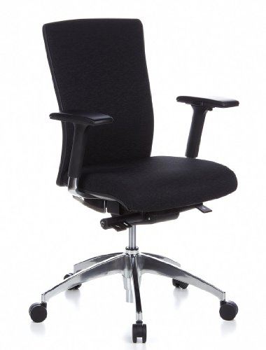 HJH Office ASTRA BASE Silla oficina Negro 69 x 64
