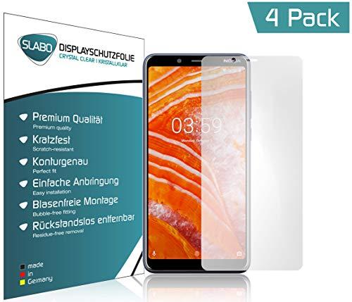 Slabo 4 x Bildschirmschutzfolie für Nokia 3.1 Plus Bildschirmfolie Schutzfolie Folie Zubehör Crystal Clear KLAR