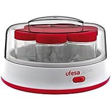 Ufesa YG3000 - Yogurtera Electrica, color blanco y rojo
