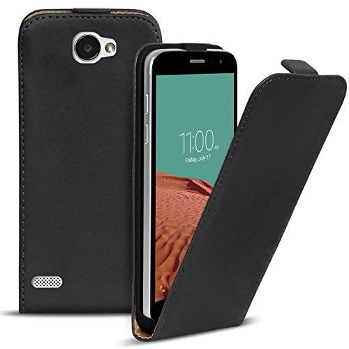 Conie BF14867 Basic Flip Kompatibel mit LG Bello 2, PU Leder Hülle Cover Klapphülle für Bello 2 Tasche Schwarz