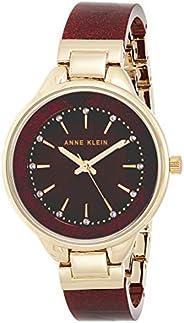 Anne Klein Women's Swarovski Crystal Accented Resin Bangle Watch, AK/