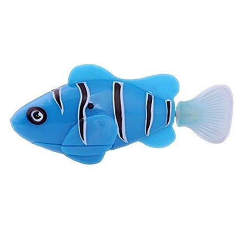 Preisvergleich Produktbild 1Pcs Robofish elektronisches Spielzeug Aktivbatteriebetriebene Robo-Fisch scherzt Roboter-Haustier-magische Novel Turbot Schwimmen Anemonenfisch -Blau-Farbe
