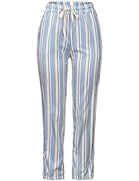 DOGZI Mujer Pantalones Raya Imprimir Encaje Pantalones Pantalones Lápiz Pantalones Largos elásticos Suelto Deporte...