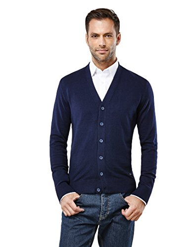 VB -  Cardigan  - Basic - Maniche lunghe  - Uomo bleu foncé XL