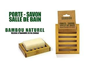 Porte Savon Bambou Naturel (12cmx9cm)