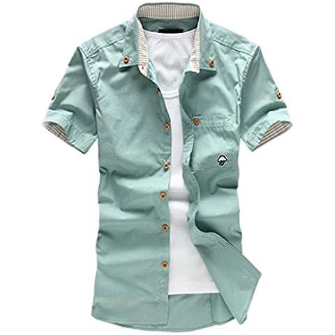 Amlaiworld Camisa de los hombres (Informal, bordado, mezcla del algodón, 1pc)