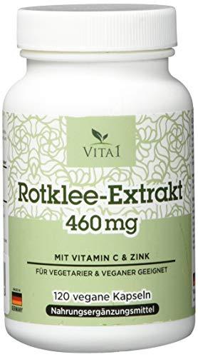 Vita 1 Rotklee Extrakt 460 mg 120 Kapseln (2 Monate Vorrat) für das Wohlbefinden in den...