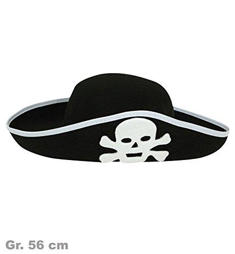 Preisvergleich Produktbild Piratenhut Piraten Hut schwarz Gr.56