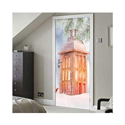 Knncch 3D Wandtattoo Tür Aufkleber Paris WasserdichteWeihnachtsgeschenkAufkleber Wand Wohnkultur Tapete An Der Wand Tür Dekor