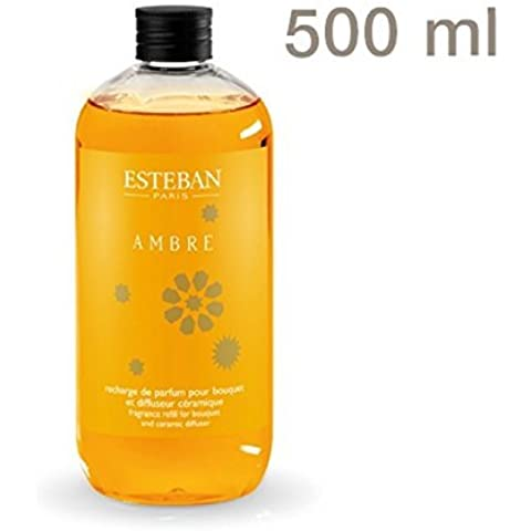 Room Fragrance Refill Bottle Esteban Paris Ambre Amber and Vanilla 500?ml by Esteban Paris