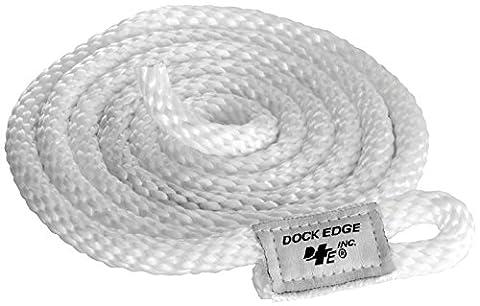 Dock Edge + Dock Fender Line - White, 3/8-Inch x 8 ft
