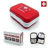 First Aid Med Care Erste Hilfe Switzerland Set 28-Teilig - Komptakt, Klein und Leicht (120 g) - Für Camping, Auto, Büro oder Wandern - 11.5 cm