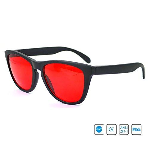 Dreamworldeu Color Blind Glasses For Red Green Corrective / Gläser Brille für Rot Grün Sehschwäche Farbenblindheit Korrektur Brille für Farbeblinde / Rot-Grün-Schwäche Colorblindness Corrective Glasses