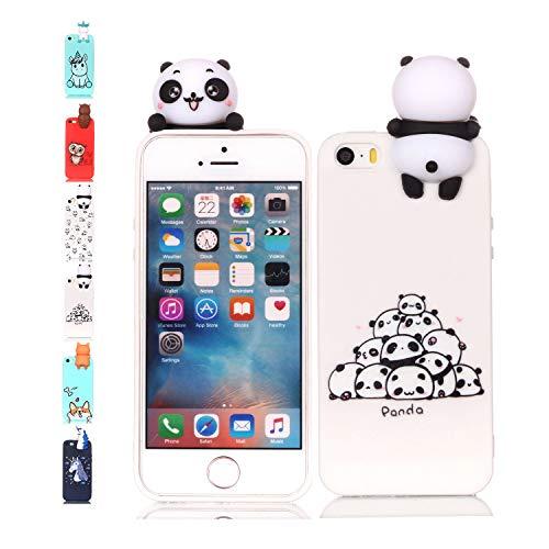 Universecase iPhone 6S 6Hülle Panda 3D Tasche Handyhüllemit Squishy Kawaii Spielzeugtier...