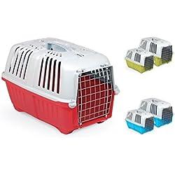 Trasportino Pratiko Metal - Accessorio da viaggio in due misure, con porta metallica, per cani e gatti (Misura 2)