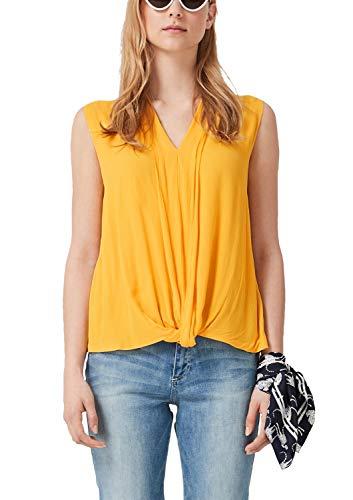 Details Tunika (s.Oliver Damen 14.904.13.4306 Bluse, Gelb (Pure Yellow 1390), Herstellergröße: 36)